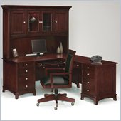 Wynwood Kennett L-Shape Wood Computer Desk in Dark Cherry
