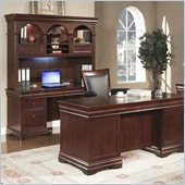 Wynwood Rue De Lyon Wood Credenza Desk in Cognac Cherry
