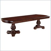 Wynwood Granada Double Pedestal Table in Cordillera Pine