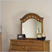 Wynwood Hadley Pointe Landscape Mirror in Honey Pine