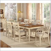 Wynwood Garden Walk Rectangular Dining Table in Latte