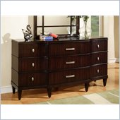 Wynwood Vinings 9 Drawer Triple Dresser in Bordeaux Finish