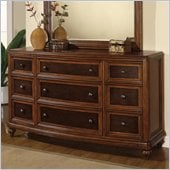 Wynwood Brendon Dresser in Hazelnut and Cabernet Finish