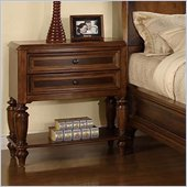 Wynwood Brendon Night Stand in Hazelnut and Cabernet Finish