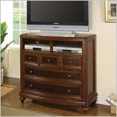 Wynwood Brendon Media Chest in Hazelnut and Cabernet Finish