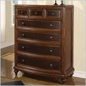 Wynwood Brendon Chest in Hazelnut and Cabernet Finish