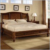 Wynwood Brendon Sleigh Bed in Hazelnut and Cabernet Finish