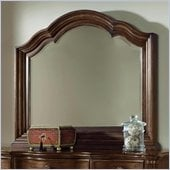 Wynwood Heritage Manor Landscape Mirror in Meritage Cherry Finish