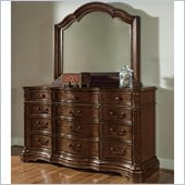 Wynwood Heritage Manor Dresser and Mirror Set in Meritage Cherry