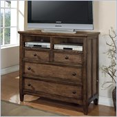 Wynwood Newberry Media Chest in Antique Oak Finish