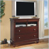 Wynwood Olmstead Media Chest in Nutmeg Finish