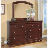 Wynwood Olmstead Dresser and Mirror Set in Nutmeg Finish