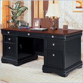 Wynwood Marlowe 66 Executive Desk in Black Cherry Finish