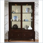 Wynwood Moxi Sliding Door China Cabinet in Java Finish