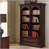 Wynwood Wellington Double Bookcase in Garnet Cherry