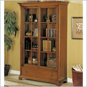 Wynwood Halton Hills Barrister Bookcase with Drawer in Toasted Oak