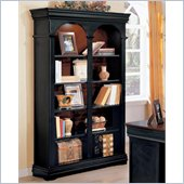 Wynwood Marlowe Double Bookcase in Black Cherry