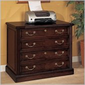 Wynwood Wellington Lateral Filing Cabinet in Garnet Cherry Finish