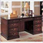 Wynwood Wellington Executive Desk in Garnet Cherry Finish