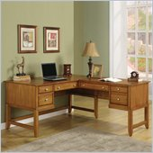 Wynwood Gordon L-Shaped Desk in Light Nutmeg