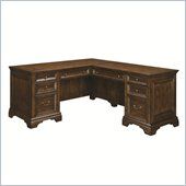Wynwood Woodlands L-Shaped Desk in Heritage Cherry Finish