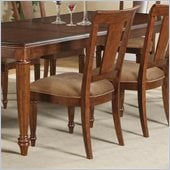 Wynwood Brendon Panel Back Side Chair in Hazelnut and Cabernet