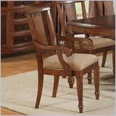 Wynwood Brendon Arm Chair in Hazelnut and Cabernet
