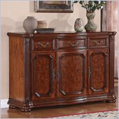 Wynwood Cordoba Buffet with Marble Top in Burnished Pine