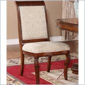 Wynwood Cordoba Upholstered Side Chair in Burnished Pine