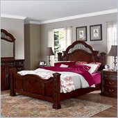 Wynwood Terrassa Chestnut Mansion Poster Bed 3 Piece Bedroom Set