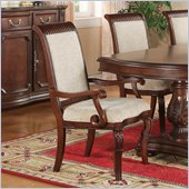 Wynwood Granada Upholstered Arm Chair in Cordillera Pine Finish