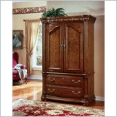 Wynwood Cordoba Entertainment Armoire in Burnished Pine Finish