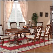 Wynwood Cordoba Double Pedestal Dining Table in Burnished Pine Finish