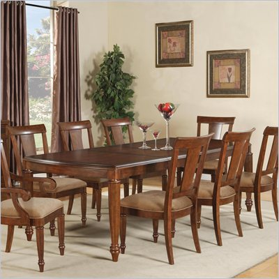 Wynwood Brendon Rectangular Dining Table in Hazelnut and Cabernet