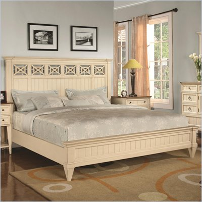 Wynwood Garden Walk Panel Bed in Latte Finish