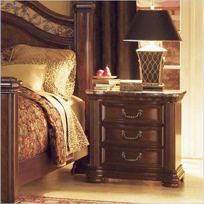 Wynwood Granada Night Stand with Marble Top