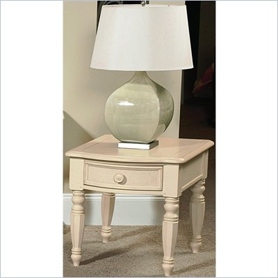 Wynwood Hadley Pointe End Table in Antique Parchment