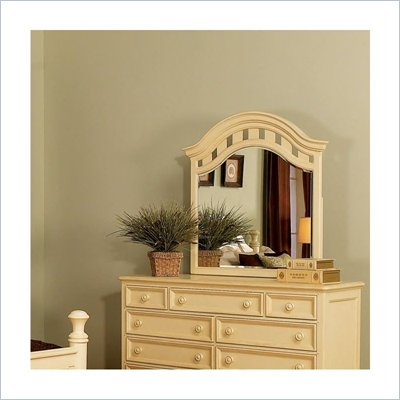 Wynwood Hadley Pointe Landscape Mirror in Antique Parchment