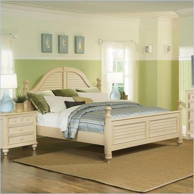 Wynwood Hadley Pointe King Poster Bed in Antique Parchment