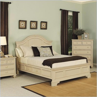 Wynwood Hadley Pointe King Panel Bed in Antique Parchment