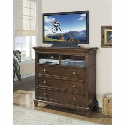 Wynwood Hathaway 3 Drawer Media Chest in Grand Manier Cherry