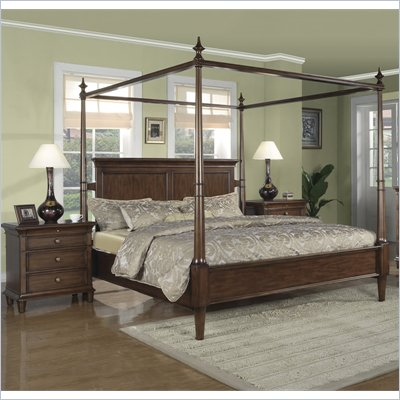 Wynwood Hathaway 2 Piece Canopy Bedroom Set in Grand Manier Cherry