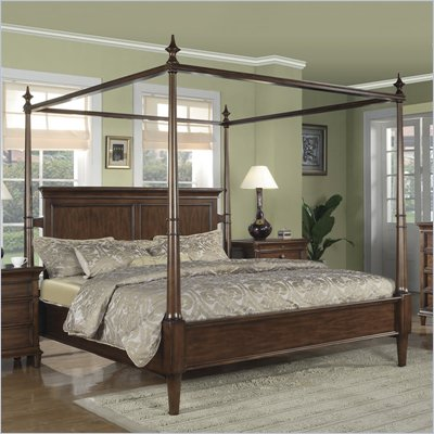 Wynwood Hathaway Queen Size Canopy Bed in Grand Manier Cherry
