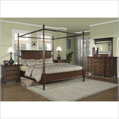 Wynwood Hathaway 6 Piece Canopy Bedroom Set in Grand Manier Cherry