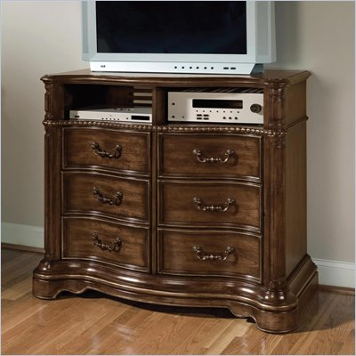 Wynwood Heritage Manor Media Chest in Meritage Cherry Finish