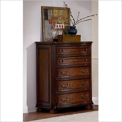 Wynwood Las Brisas 5 Drawer Chest in Laguna Cherry Finish