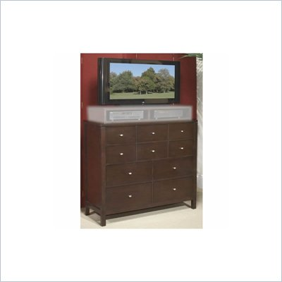 Wynwood Moxi 5 Drawer Media Chest in Java Finish