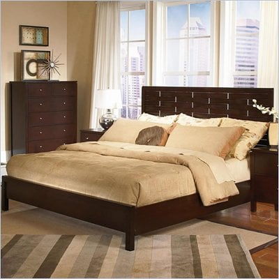 Wynwood Moxi Weave Panel Bed in Java Finish