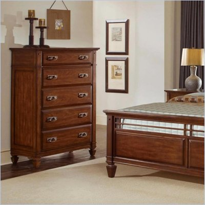 Wynwood Randolph Park 5 Drawer Chest in Smoky Cherry