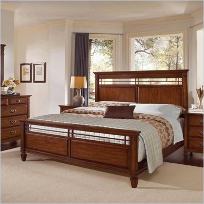 Wynwood Randolph Park Queen Panel Bed in Smoky Cherry